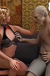 Hung granddaddy stretch girl's little pink hole