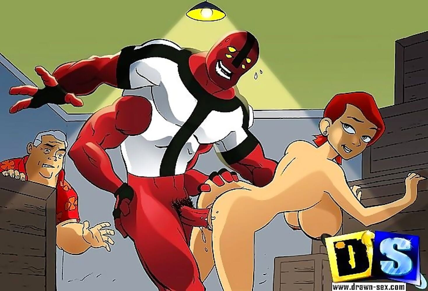 Ben 10s busty cousin gwen takes huge alien dicks - part 1395