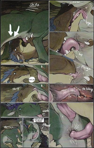 Комикс секс с драконом