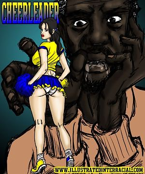 illustrated interracial- Cheerleaders