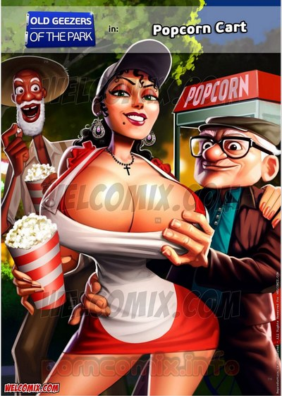Old Geezers of Parks- Popcorn Cart