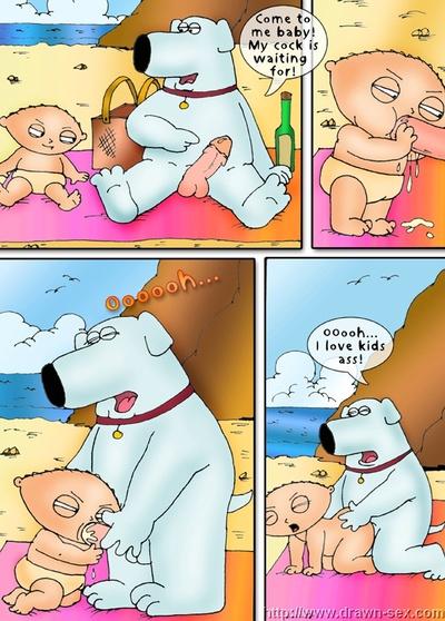 परिवार आदमी - समुद्र तट playdrawn सेक्स