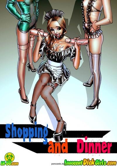 Shopping And Dinner- Innocent Dickgirls
