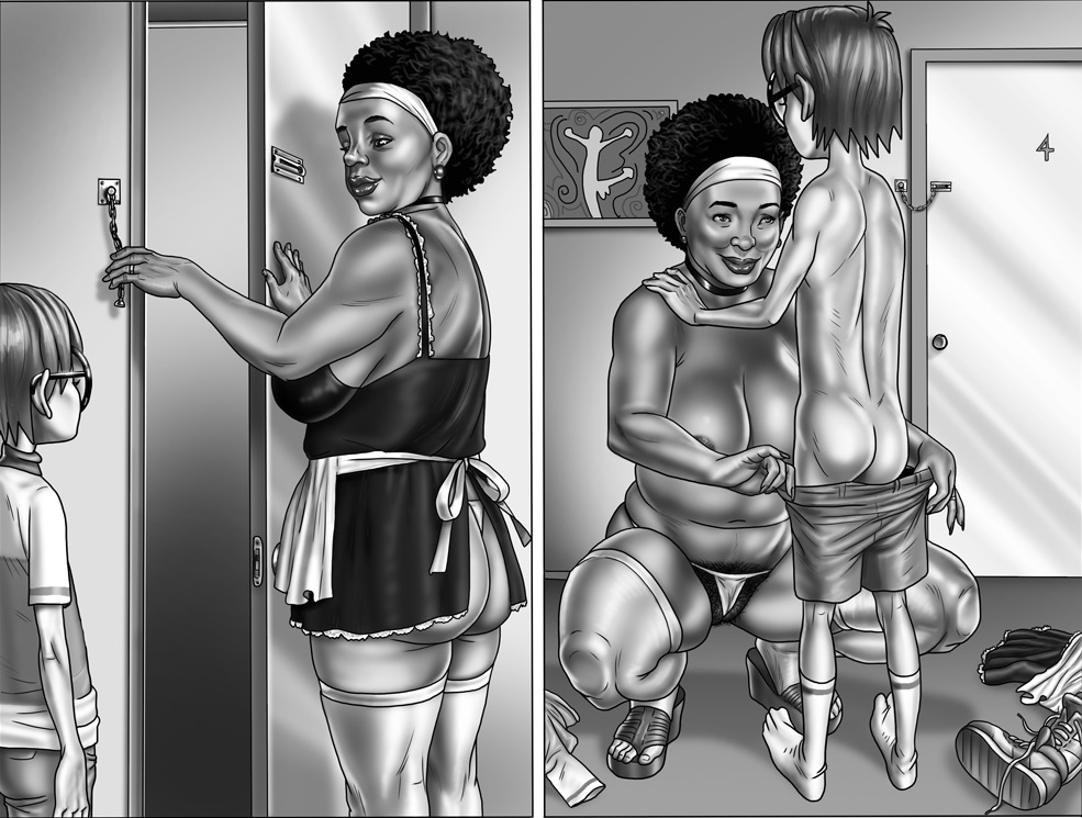 milftoon Plage femme de ménage