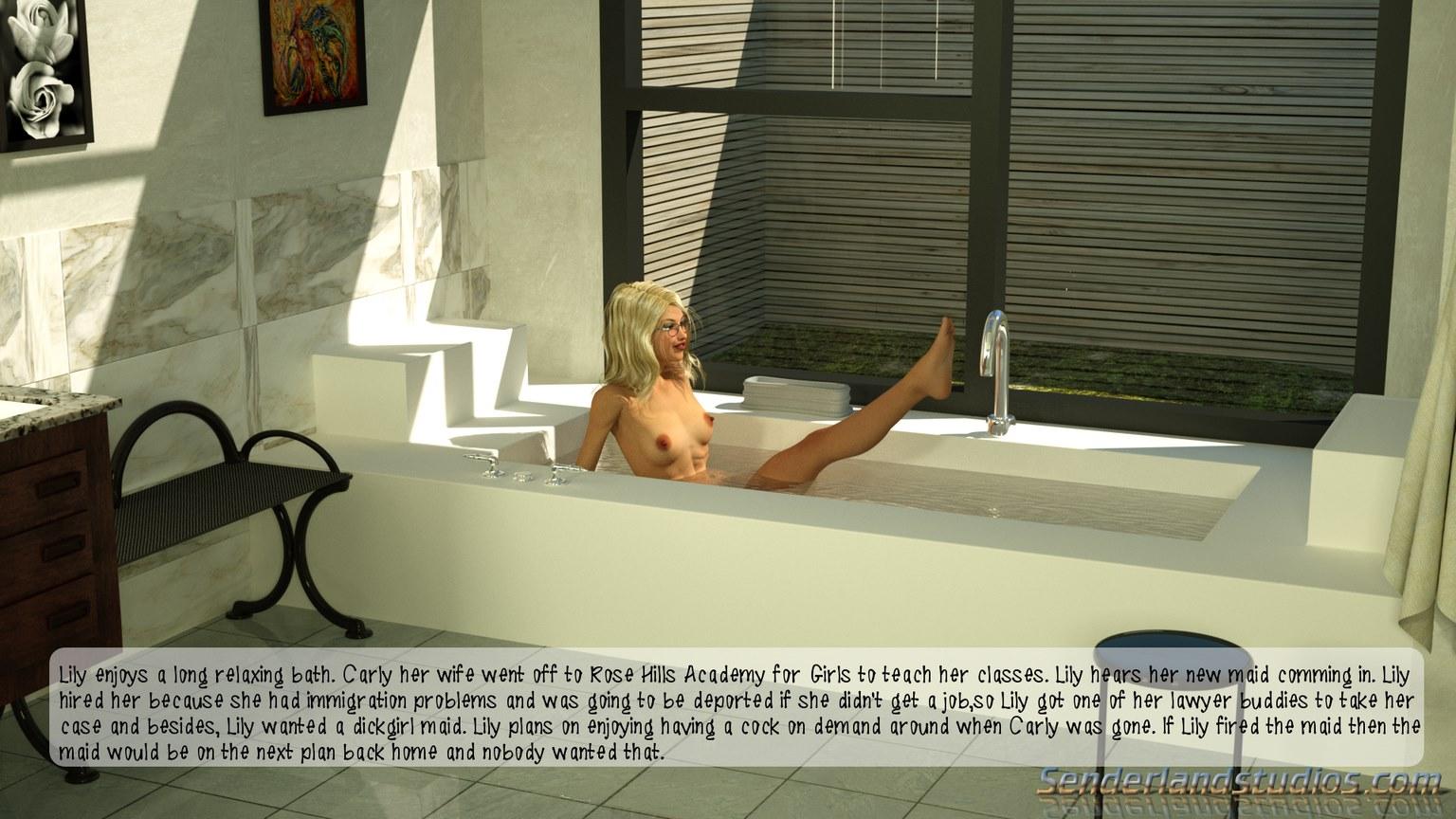 Bathtime - The Maid\'s Blowjob- Senderland Studios