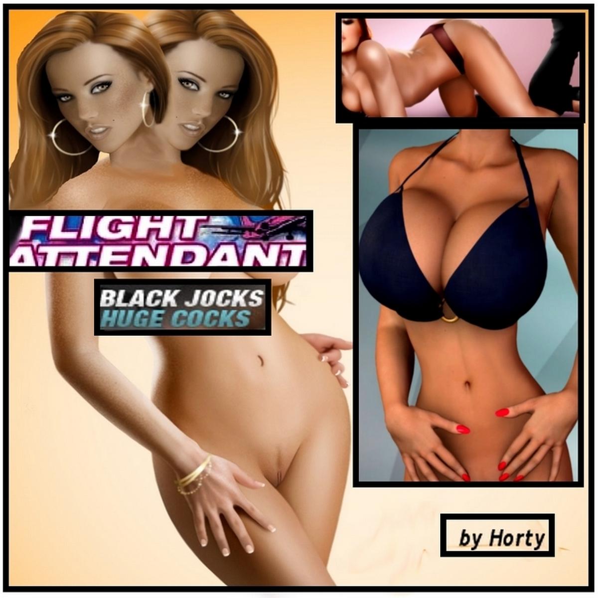 Flight Attendant- Black jocks huge cocks