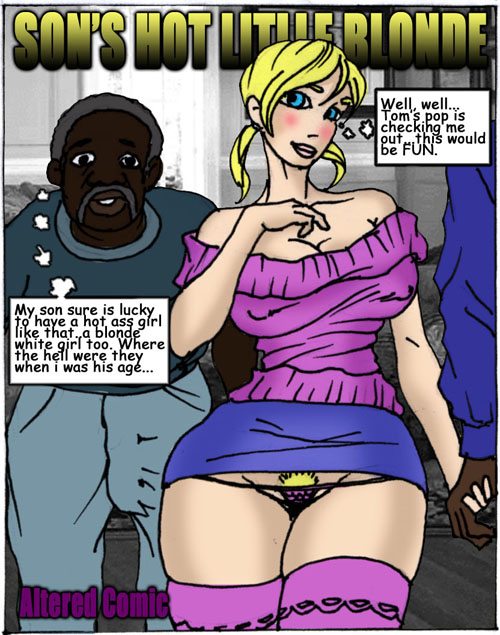 Son\'s Hot Little Blonde- Illustrated interracial