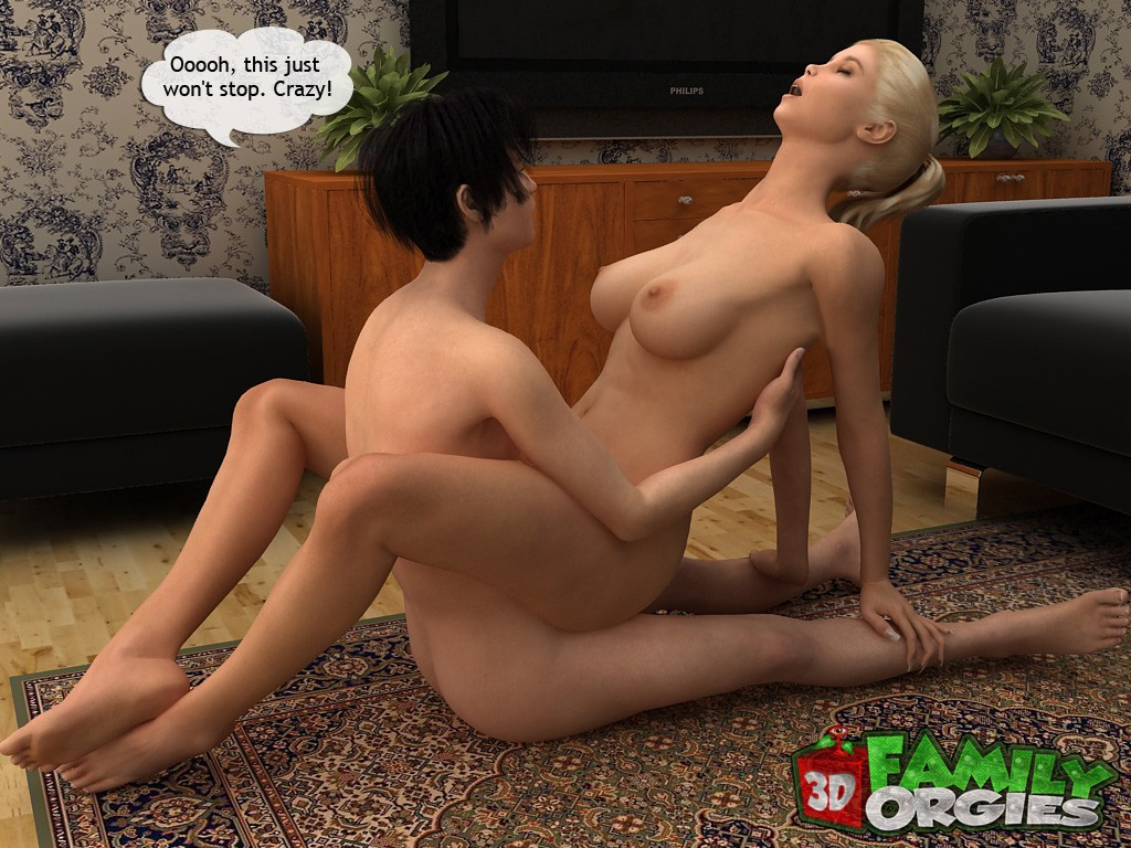 Sporty mom boned by son- Family Orgies - part 3