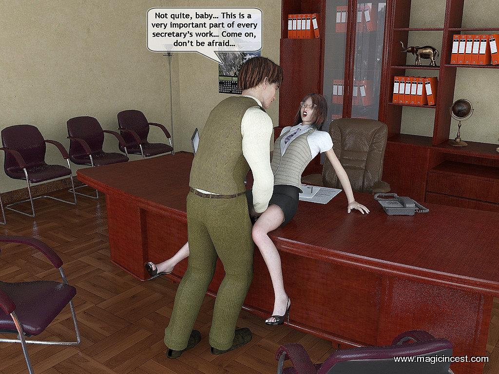 Dad\'s new secretary- Magic Incest