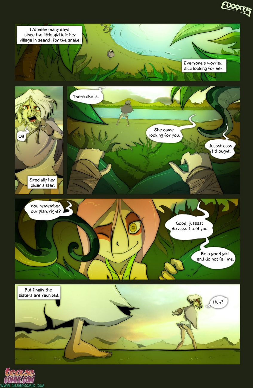 of the snake and the girl 2 - part 2 at x sex comics