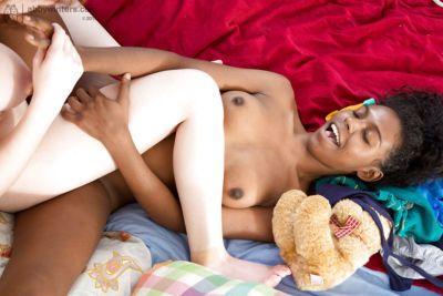 Interracial big tit amateur lesbians Elisa and Esme getting horny together - part 2