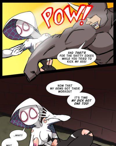 [Shiboobmura] The Rhino vs. Spider-Gwen (Spider-man)